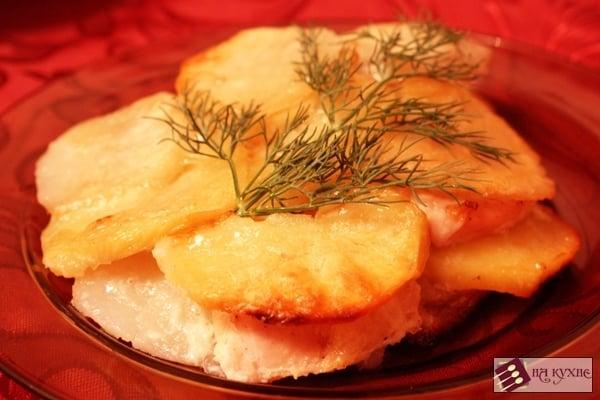 Куриное филе, запеченное с картофелем под майонезом - приготовление, шаг 13