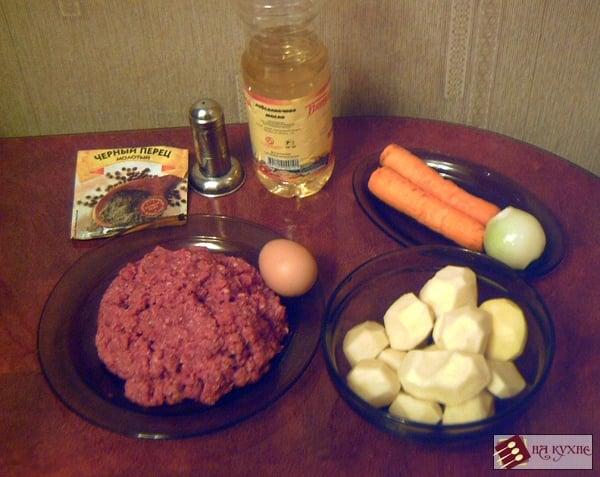 Картофельный суп с фрикадельками - приготовление, шаг 1