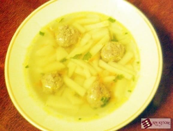 Картофельный суп с фрикадельками - приготовление, шаг 9