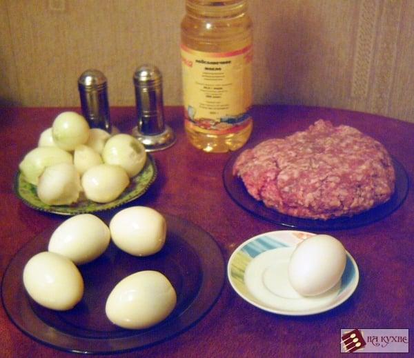 Зразы с начинкой из лука и яиц - приготовление, шаг 1
