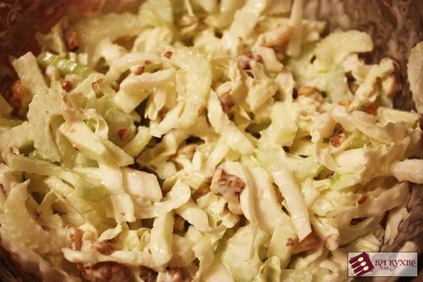 Салат «Лёгкий» (с зелёными яблоками и сельдереем) - приготовление, шаг 6