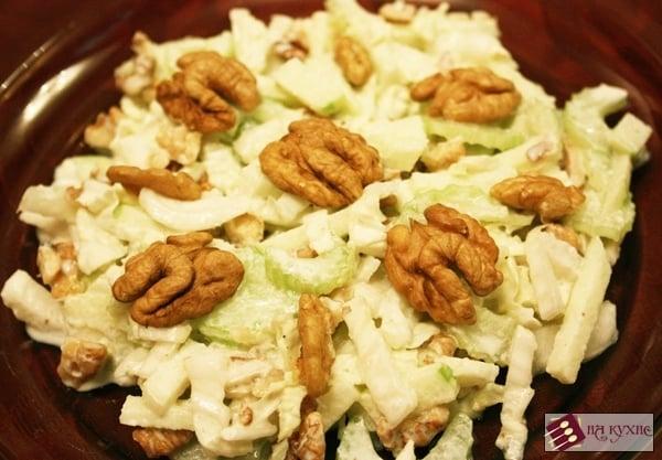 Салат «Лёгкий» (с зелёными яблоками и сельдереем) - приготовление, шаг 7
