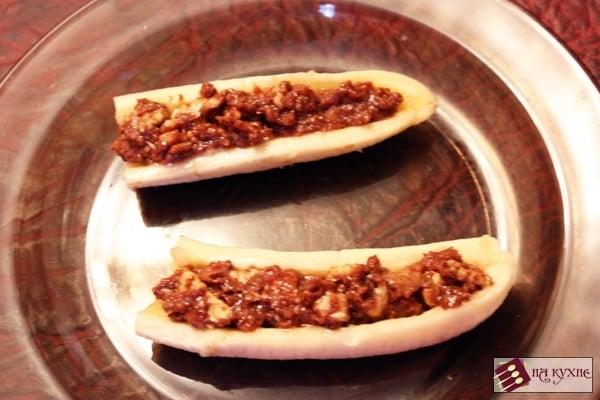 Банановый десерт с орехами в шоколаде - приготовление, шаг 6