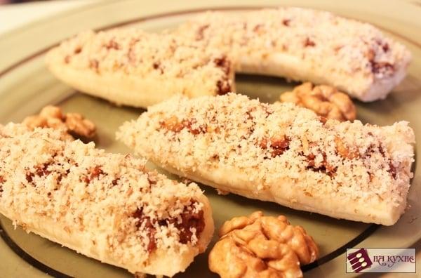 Банановый десерт с орехами в шоколаде - приготовление, шаг 7