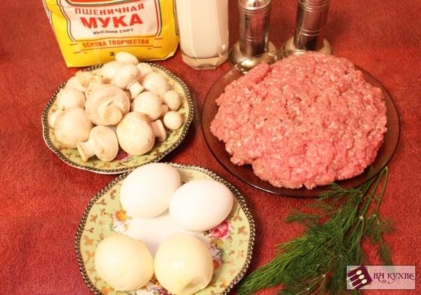 Мясные биточки в сливочно-грибном соусе - приготовление, шаг 1