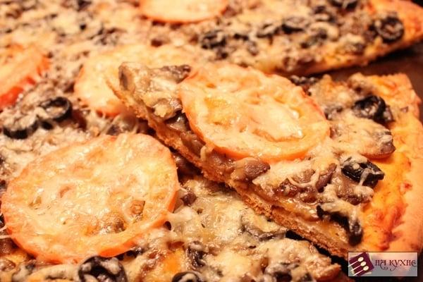 Пицца с грибами - приготовление, шаг 18