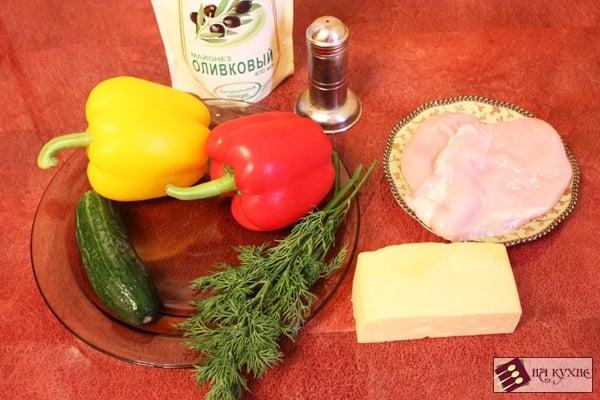 Салат с курицей и болгарским перцем - приготовление, шаг 1