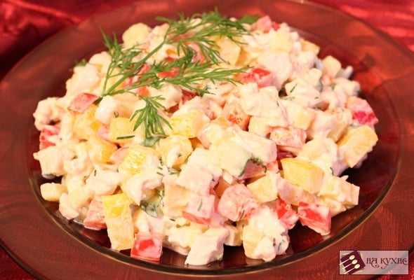 Салат с курицей и болгарским перцем - приготовление, шаг 8