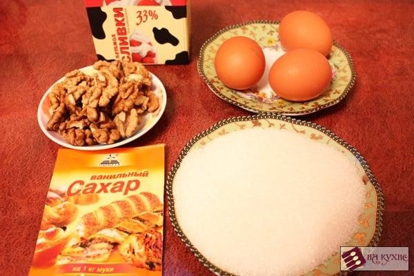 Сливочное мороженое с орехами - приготовление, шаг 1