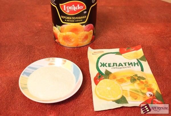 Персиковое желе - приготовление, шаг 1