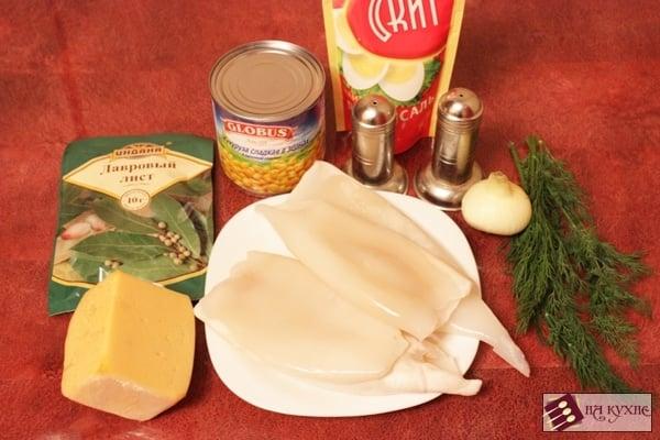 Салат с кальмарами и кукурузой - приготовление, шаг 1
