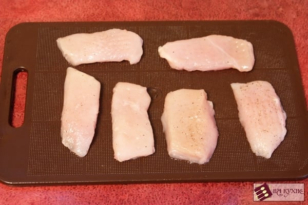 Куриное филе в сырно-кунжутной корочке - приготовление, шаг 2