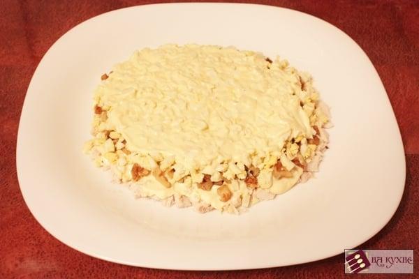 Салат с курицей и грибами - приготовление, шаг 12