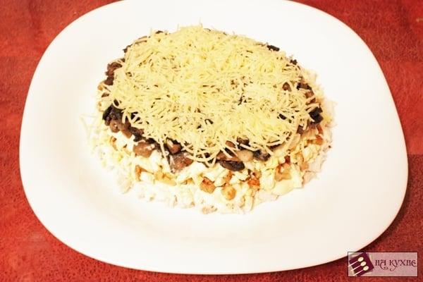 Салат с курицей и грибами - приготовление, шаг 14
