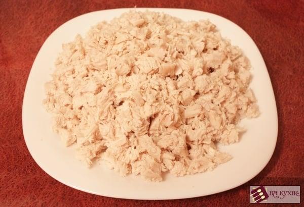 Салат с курицей и грибами - приготовление, шаг 7