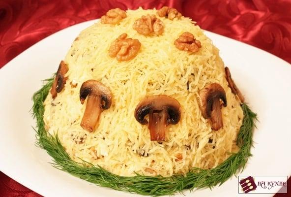 Салат с курицей и грибами - приготовление, шаг 15