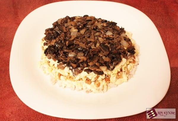 Салат с курицей и грибами - приготовление, шаг 13