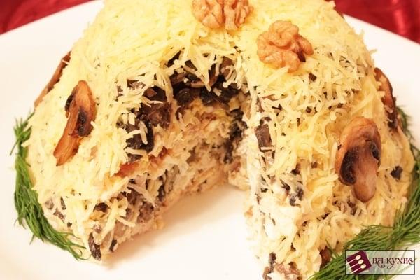 Салат с курицей и грибами - приготовление, шаг 16