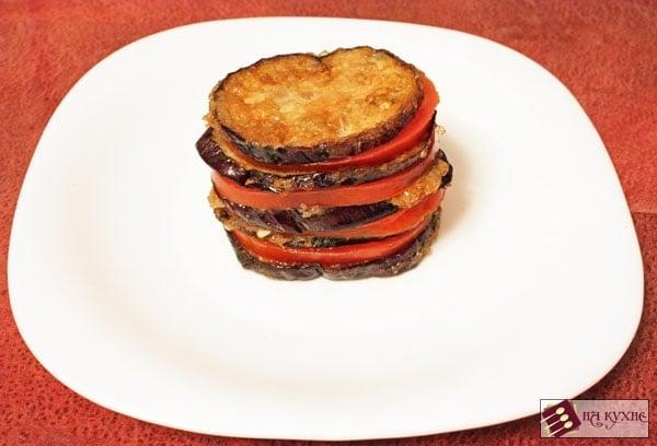 Острая закуска из баклажанов и помидоров с чесноком - приготовление, шаг 9