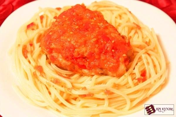 Острая курица, тушеная с помидорами - приготовление, шаг 6
