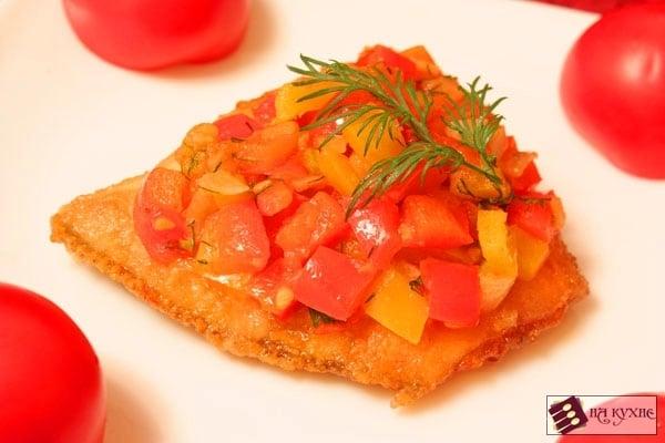 Камбала с овощами - приготовление, шаг 9