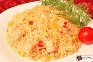 Тушеная курица с рисом и овощами - приготовление, шаг 12