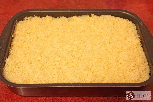 Картофельная запеканка с фаршем и грибами - приготовление, шаг 7