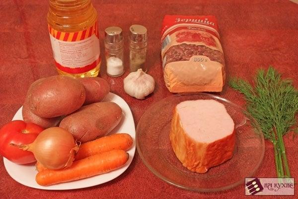 Фасолевый суп с копченостями - приготовление, шаг 1