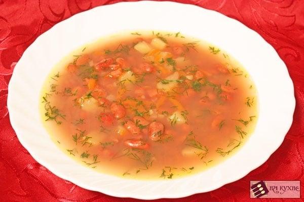 Фасолевый суп с копченостями - приготовление, шаг 11