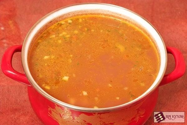 Фасолевый суп с копченостями - приготовление, шаг 10