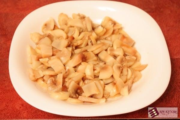 Рис с курицей и грибами в сливочном соусе - приготовление, шаг 3