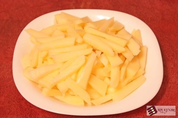 Жареный картофель с грибами - приготовление, шаг 4