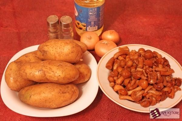 Жареный картофель с грибами - приготовление, шаг 1