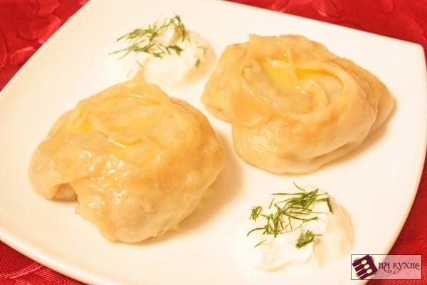 Манты с картофелем и мясом - приготовление, шаг 14