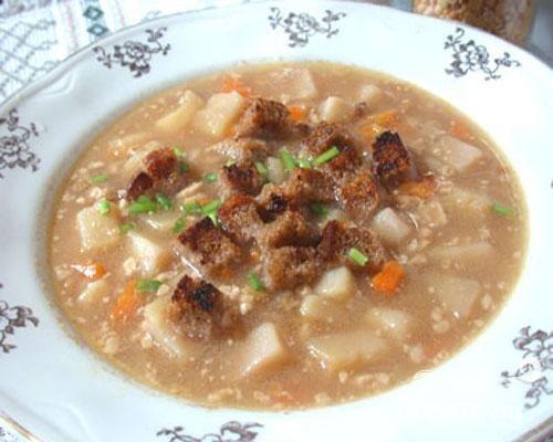 Гороховый суп с орехами - приготовление, шаг 4