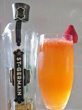 Сэн Жермен - клубничный коктейль - приготовление, шаг 5