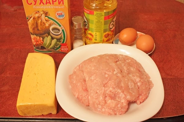 Мясные шарики из индейки с сыром - приготовление, шаг 1