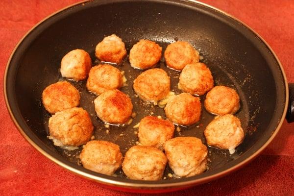 Мясные шарики из индейки с сыром - приготовление, шаг 5
