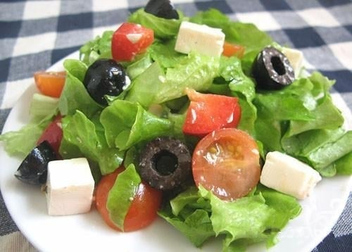 Греческий салат - приготовление, шаг 6