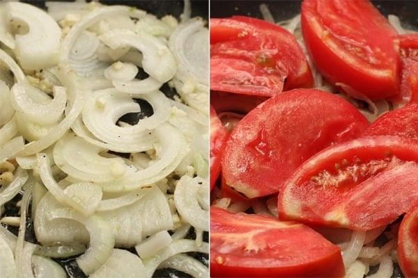 Бифштекс с овощами - приготовление, шаг 4