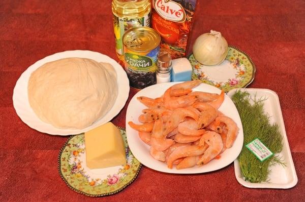 Пицца с креветками - приготовление, шаг 1