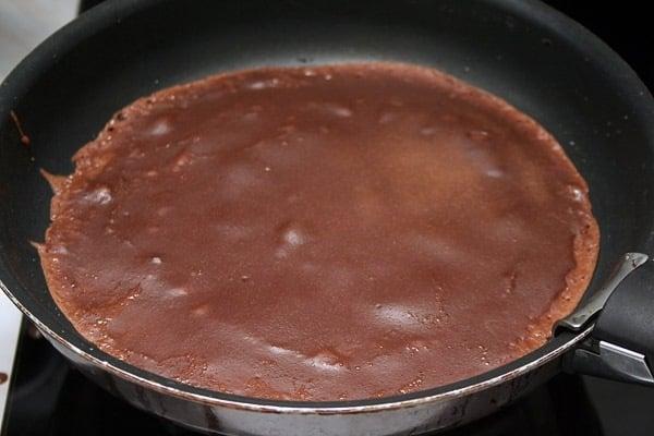 Шоколадные блинчики - приготовление, шаг 4