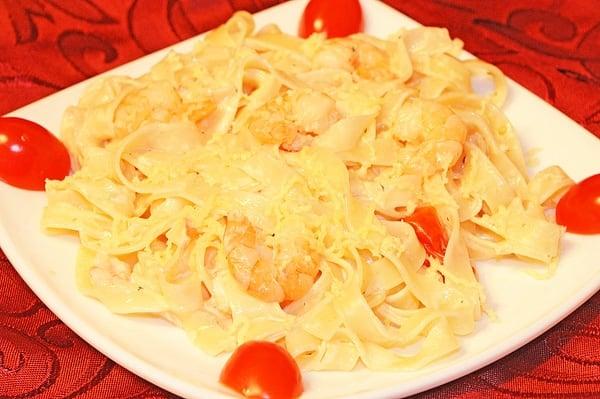 Паста с креветками в сливочном соусе - приготовление, шаг 5