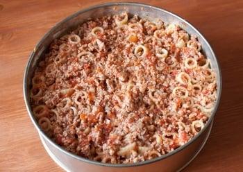Запеканка из макарон с мясом - приготовление, шаг 5