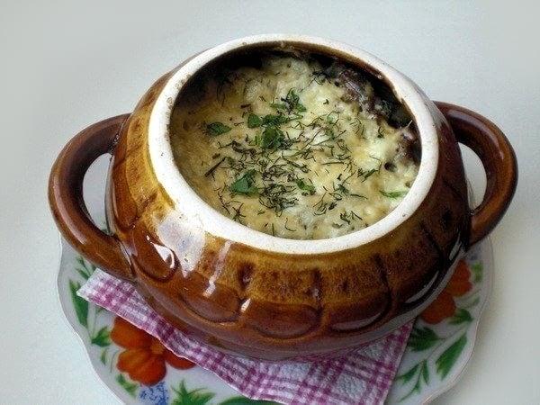 Фрикадельки с картофелем и грибами, запеченные под сыром - приготовление, шаг 5