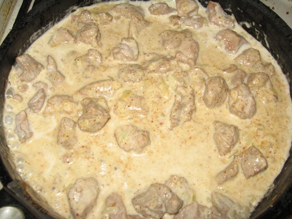 Индейка в сливочно-горчичном соусе - приготовление, шаг 5