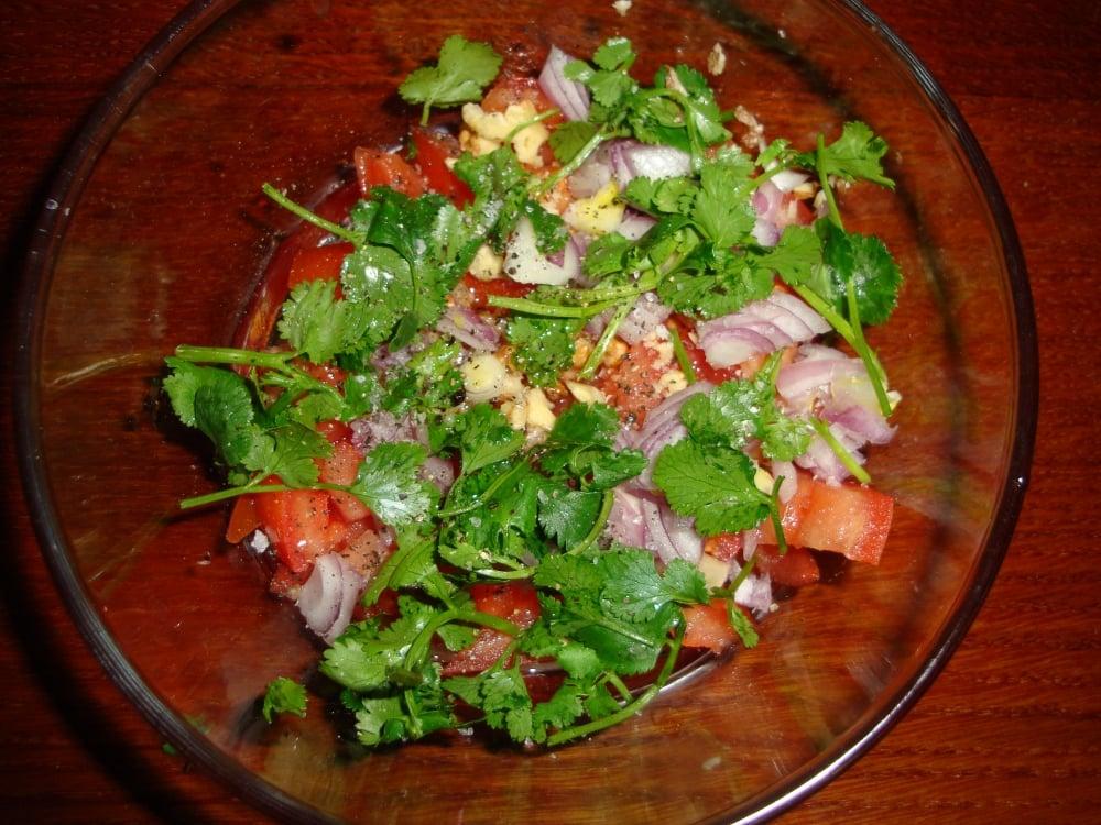 Индийский салат - приготовление, шаг 4