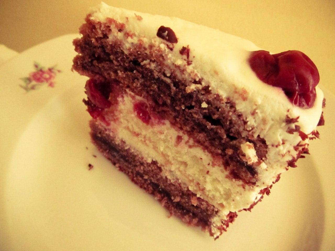 Бисквитные торты с вишней рецепты с фото
