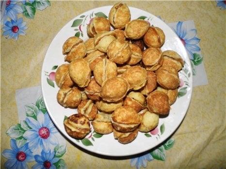 Орешки с вареной сгущенкой - приготовление, шаг 4