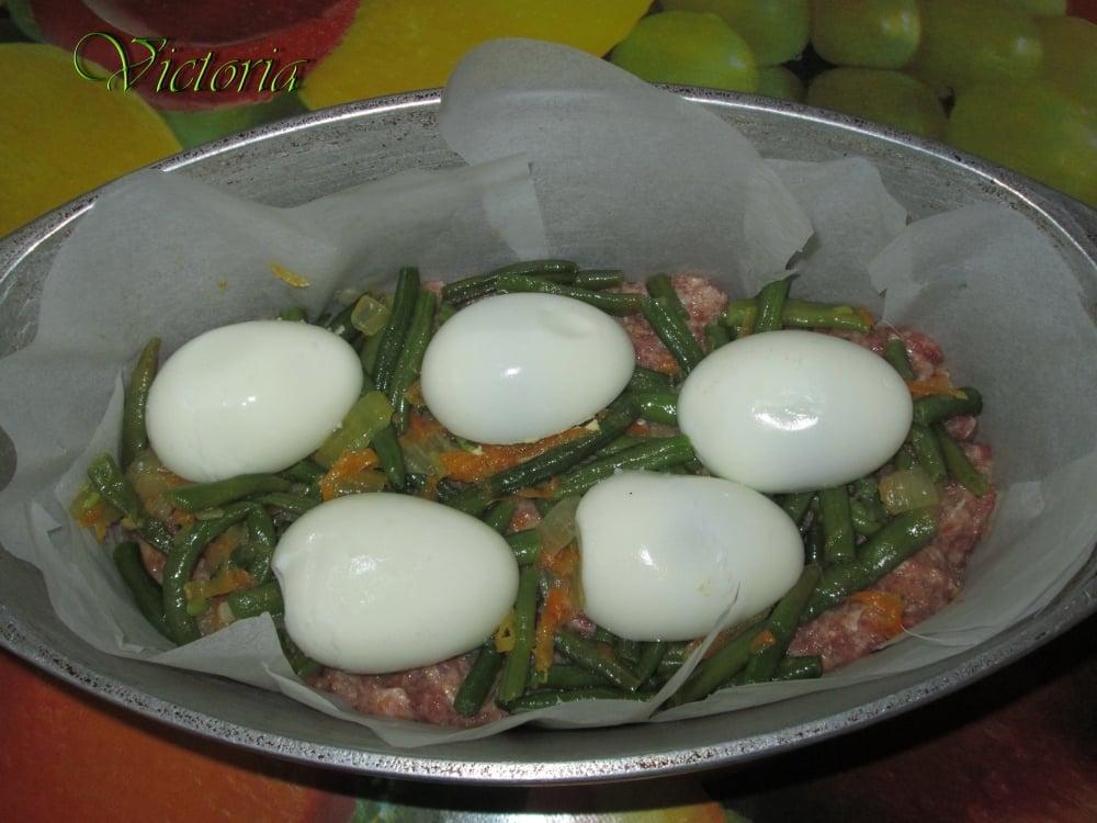 Мясной пирог с яйцами и овощами - приготовление, шаг 18